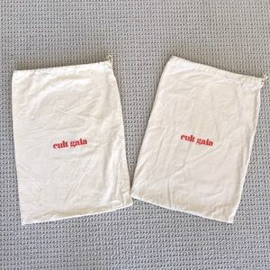 Pair of Cult Gaia Shoe Bags
